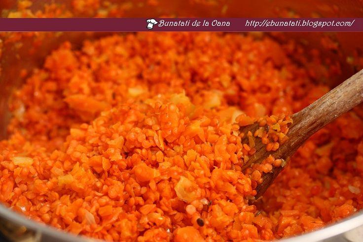 Bunatati de la Oana: Supa crema de linte rosie