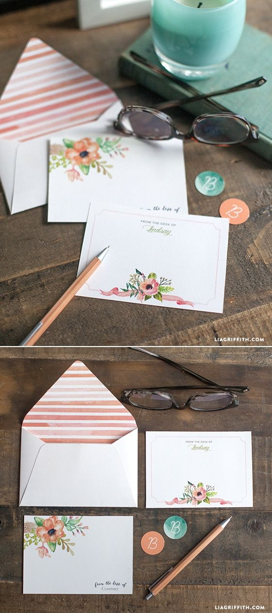 #DIY #SpringNoteCards at www.LiaGriffith.com