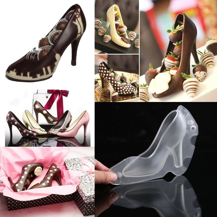 Fondant Shoe Chocolate Mold High Heel 3D Cute Candy Mold Sugar Paste Mold for Cake Decorating DIY Home Baking suger craft Tools