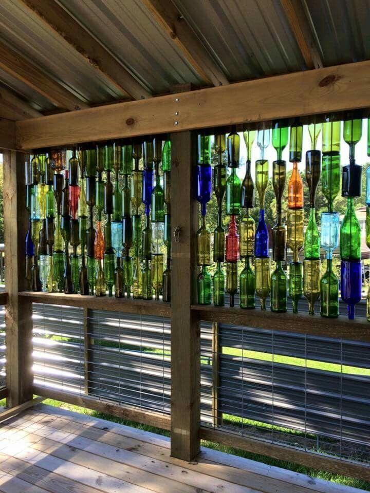 полвека веранда из стеклянных бутылок фото ручной покраске