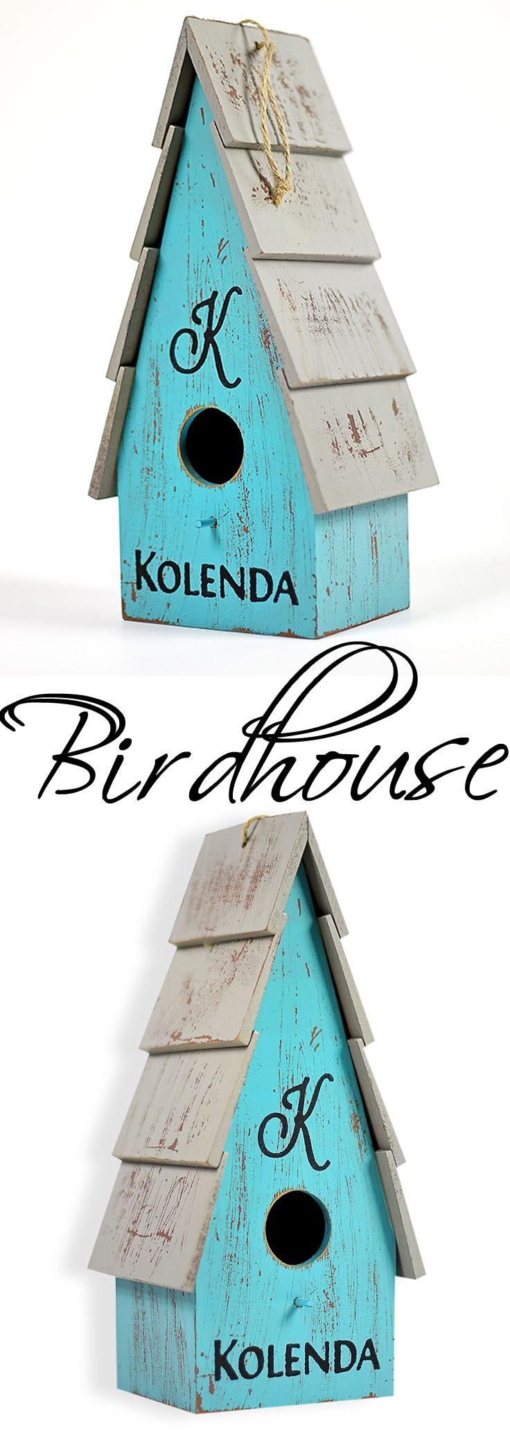 Custom Birdhouse, Personalized, Indoor Birdhouse, Bird Feeder, Bird Bath,  Hanging Bird