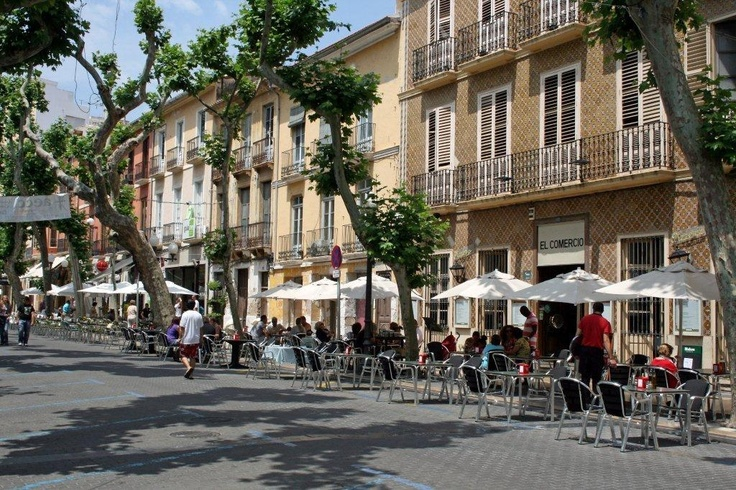 Tree lined avenues of Denia where we hold our Summer yoga holidays in Spain. www.yogabreaks.org.uk