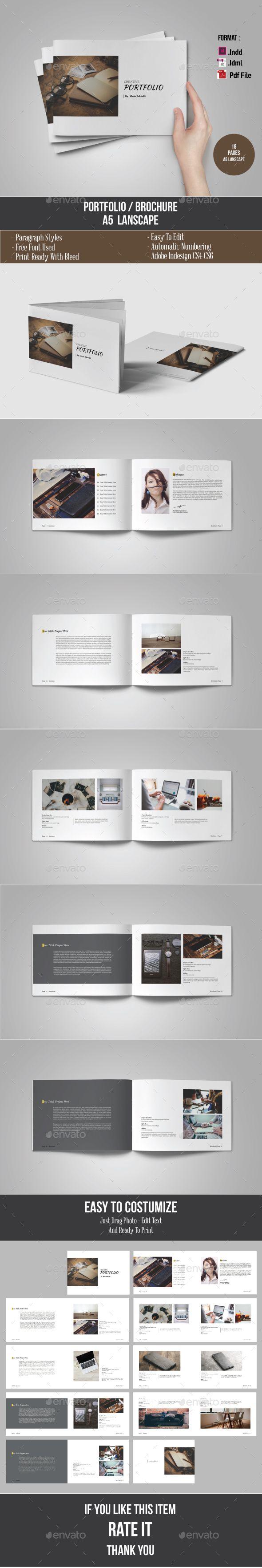 A5 Portfolio Brochure Template InDesign INDD. Download here: http://graphicriver.net/item/a5-portfolio-template/15087353?ref=ksioks