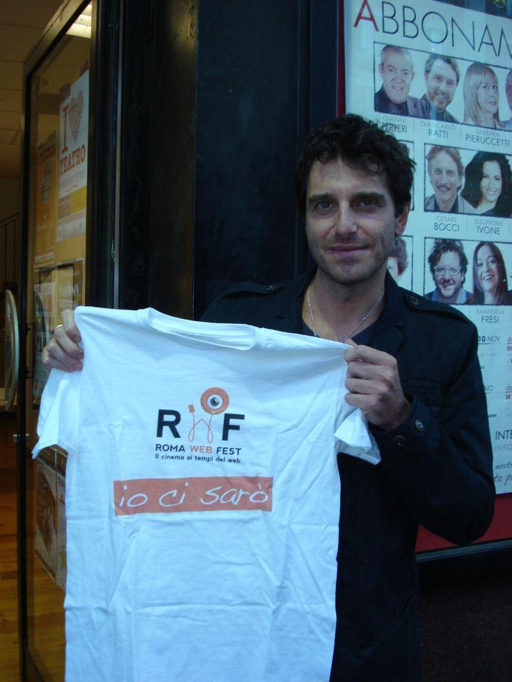 Giampaolo Morelli, amico e gran sostenitore del nostro evento!! www.romawebfest.it