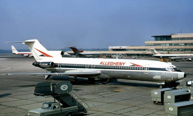 Allegheny Airlines Boeing 727-200 at the old Greater Pittsburgh Intl. Airport.  Celebrating 727 day!!
