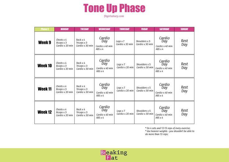 6 month weight loss calendar