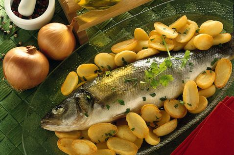 Seabass with potatoes