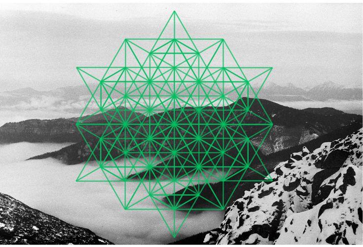 Sacred geometry, 64 vector equilibrium, merkaba