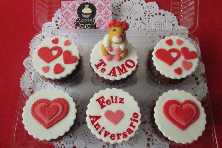 Hermosos y deliciosos cupcakes con mensaje de amor