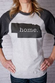 Nebraska home raglan tee #509Broadway