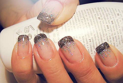 . ... Uploaded with Pinterest Android app. Get it here: http://bit.ly/w38r4mNails Art, French Manicures, Nails Design, Sparkle Nails, Glitter Nails, Glitter Tips, French Tips, New Years Eve, Sparkly Nails