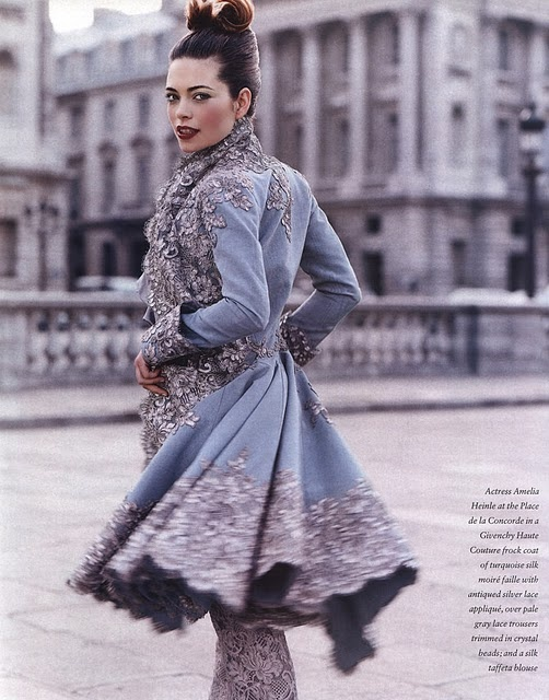 blue jacketLace, Alexander Mcqueen, Fashion, Style, Blue Bridesmaid, Alexandermcqueen, Givenchy, Trench Coats, Haute Couture