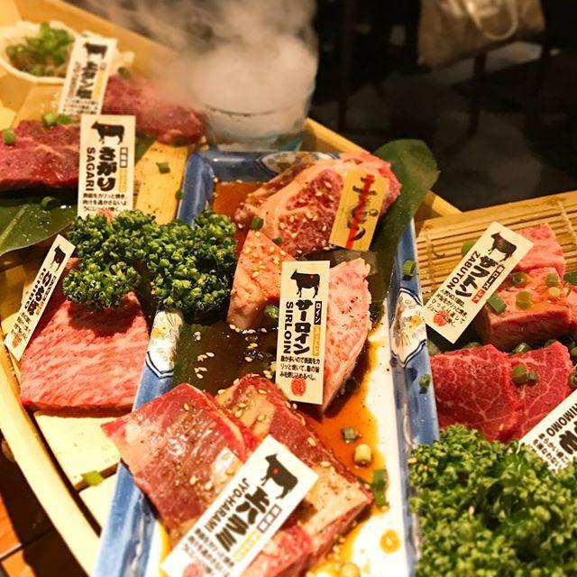 にくざんまい #大門 #焼肉 #肉 #和牛 #beef  #舟盛り #ユッケ #レバー #ユッケカレー