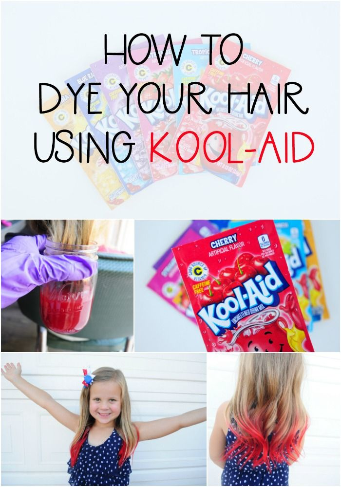 How to dye your hair using kool-aid!