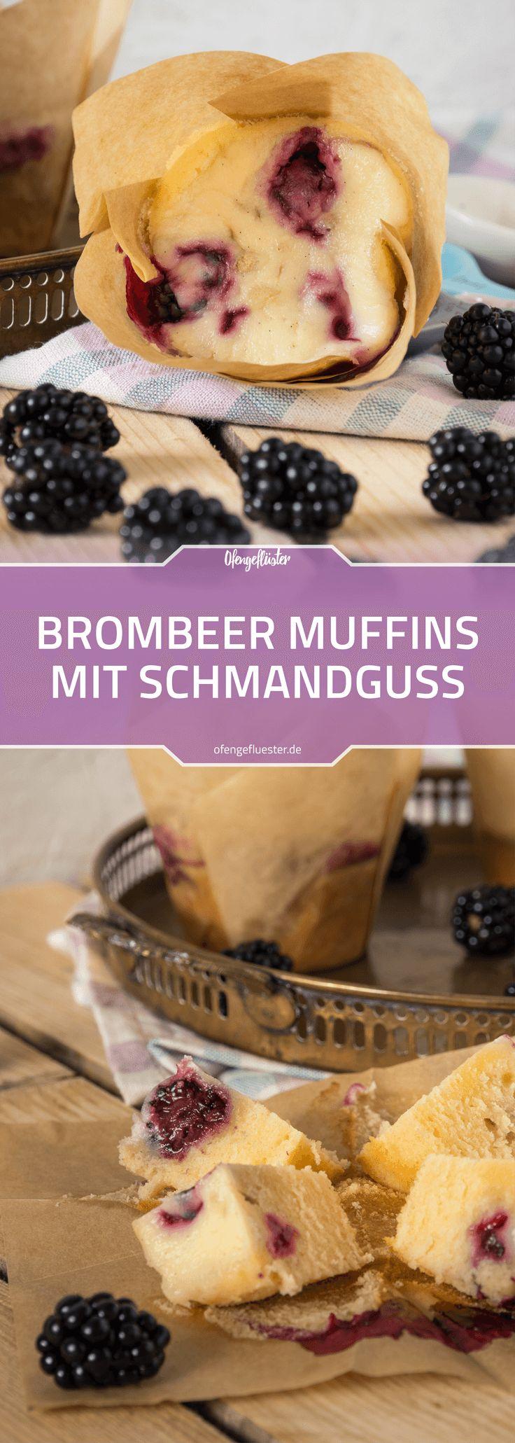 Brombeer-Muffins mit Schmandguss Rezept