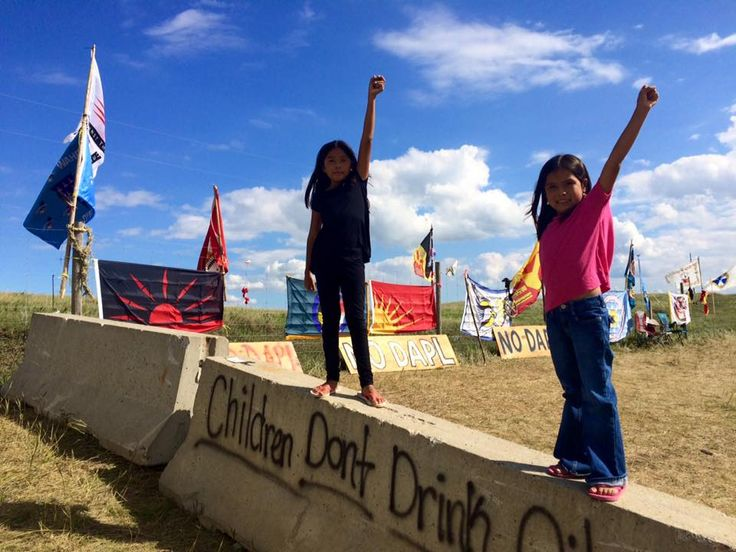 Children don't drink oil. #NoDAPL