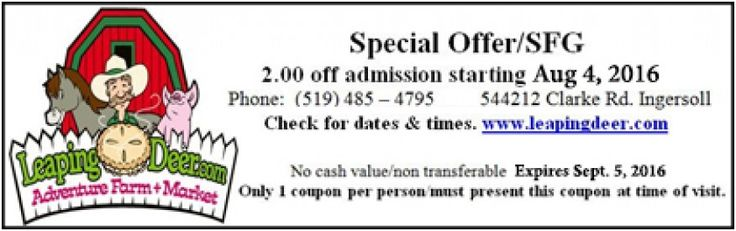 Leaping Deer - $2.00 OFF ADMISSION