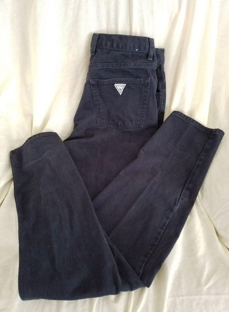 Vintage Guess Jeans USA mens 34 x 32 dark overdyed indigo tapered leg #GUESS #90staperedleg