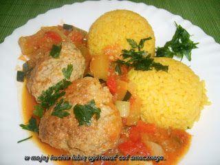 W Mojej Kuchni Lubię..: ryż curry z mielonym w sosie warzywnym...