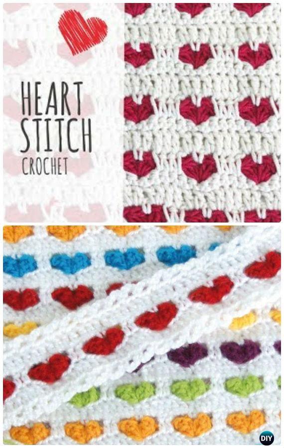 Crochet Heart Stitch Blanket Free Pattern - Crochet Valentine Heart Gift Ideas Free Patterns