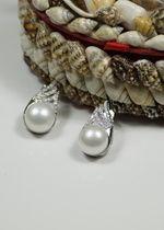 Traumhafte Perlenohrstecker echte SZ Perlen Silber 925er