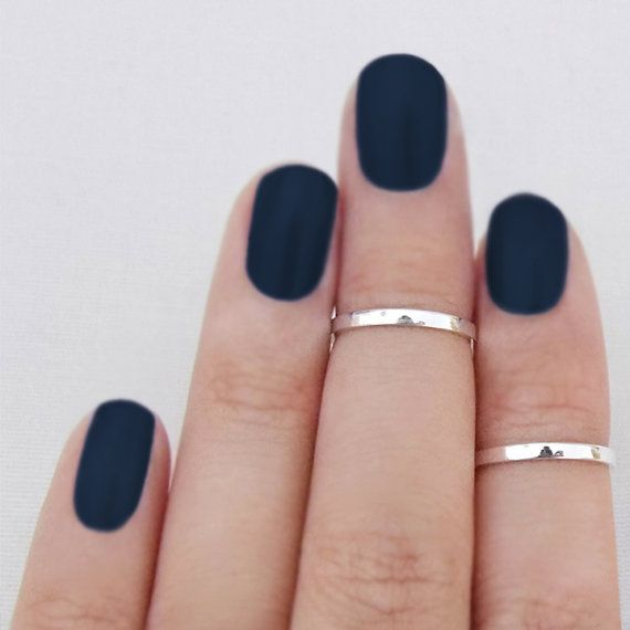 Knuckle Ring Above the Knuckle Band Mid First Knuckle Thin Stackable Band Midi Sterling Silver Set 2