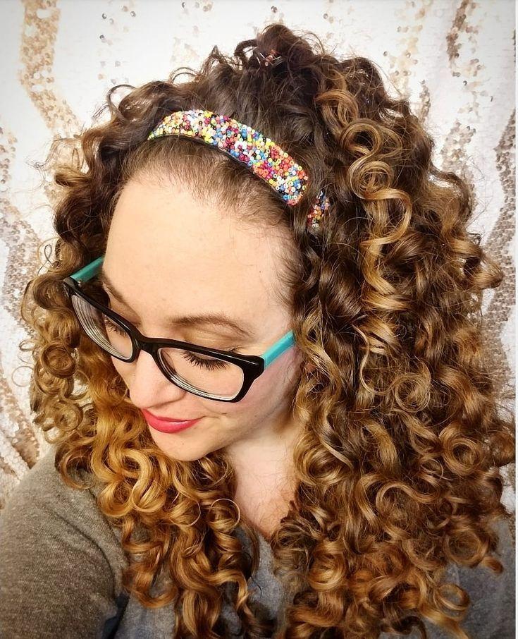 Long Hair Curly Hair Curly Hairstyles Headbands Hairbands Hairstyles Hair Updo Thick H Headband Hairstyles Hair Styles Beautiful Hair Accessories