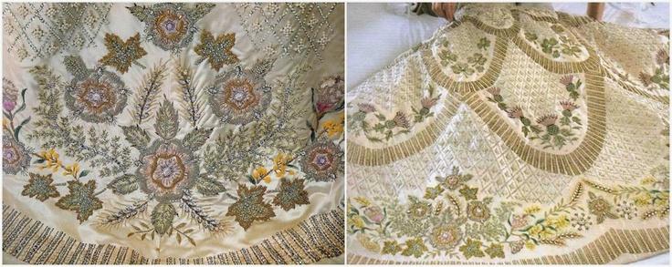 I #ricami sull'abito dell'incoronazione di #Elisabetta II  Guarda le altr foto: https://lamiastilistapersonale.wordpress.com/2012/06/04/larte-la-regina-elisabetta-ii-e-il-diamond-jubilee/#