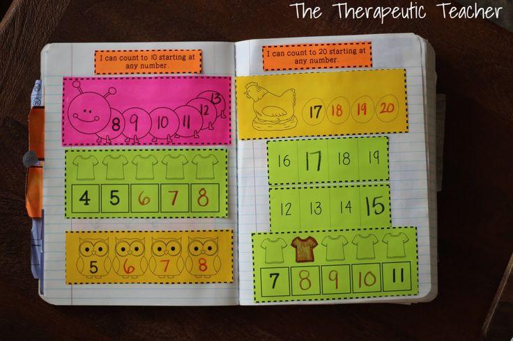 KINDERGARTEN Interactive Math Journals: PART ONE!