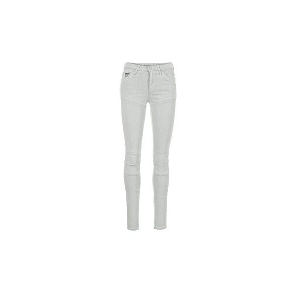 G-Star Raw 5621 ULTRA HIGH SUPER SKINNY WMN Skinny jeans (€150) ❤ liked on Polyvore featuring jeans, grey, g star raw jeans, skinny fit jeans, gray jeans, skinny leg jeans and fitted jeans