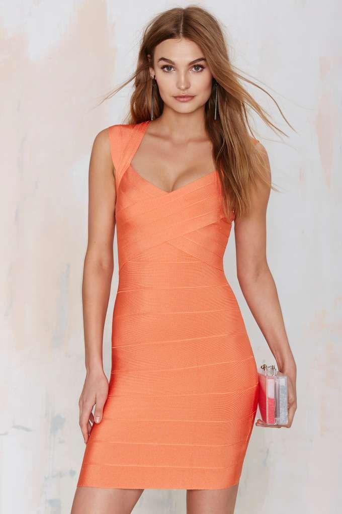 Nasty Gal With the Bandage Dress - Orange