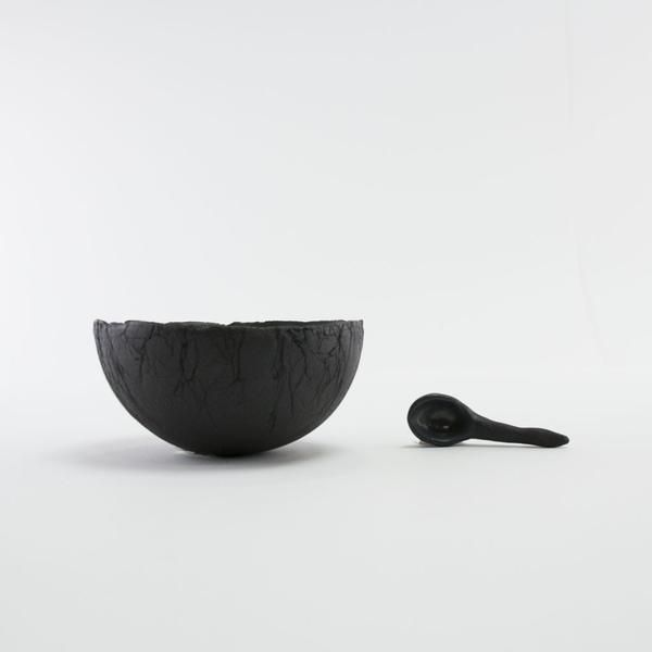 Small bowl and spoon from Norwegian maker Ragnhild Wik