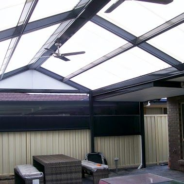 DMV steel pergola Lysaght colorbond steel and polycarbonate roof lifetime…