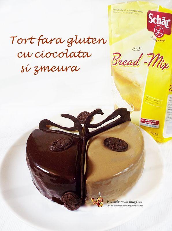tort fara gluten cu ciocolata si zmeura 1
