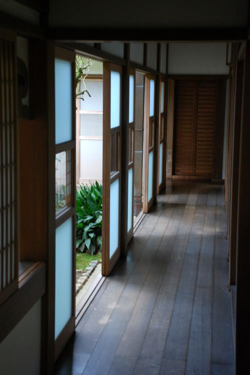 connection   Ryoan-ji, Kyoto, Japan    I like for the hall corridors to the rooms which go out to the gardens
