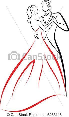 dancing couple, vector - csp6263148