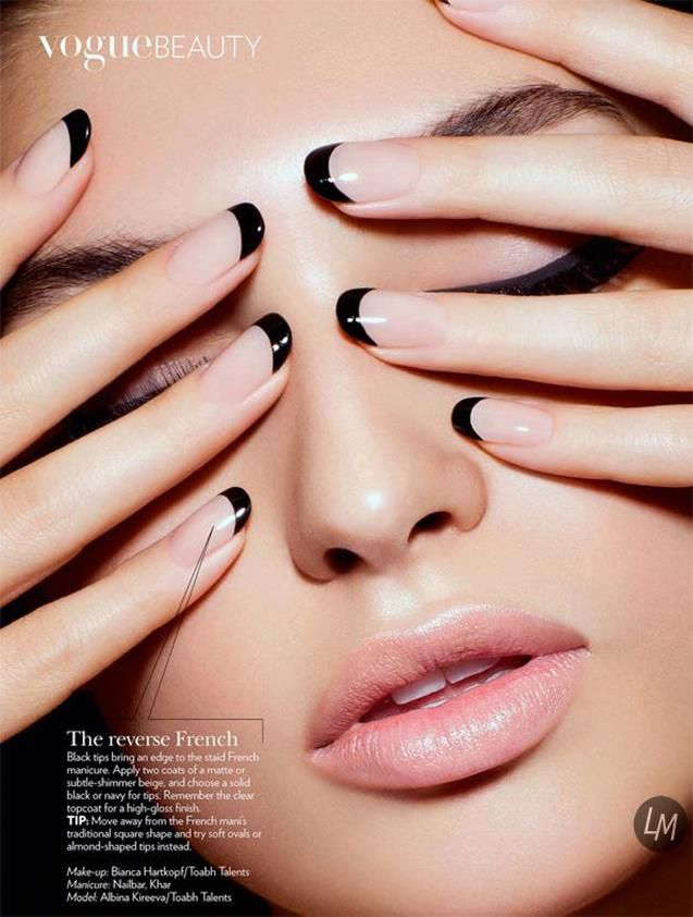 This will always be my favorite manicure. Reverse French Tip, classic and beautiful..