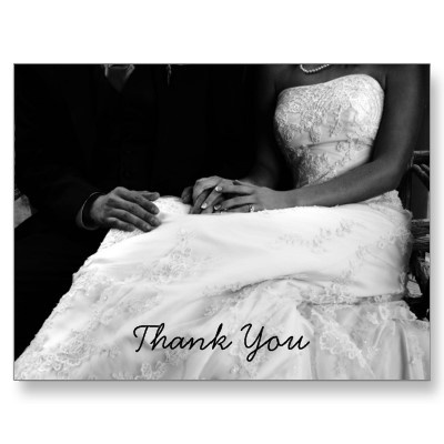 Wedding Thank You Cards Post Cards (customize with your own image) $0.95 cents per card. #weddings #thankyou #customized #postcards