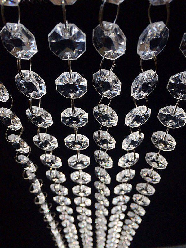 10x Acrylic Crystal Bead Hanging Strand Garland Chandelier Trees Wedding Decor