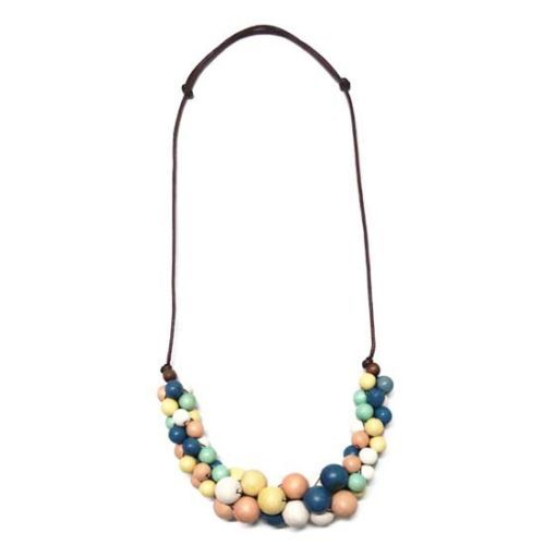 Pastel-Round-Bead-Cluster-Necklace