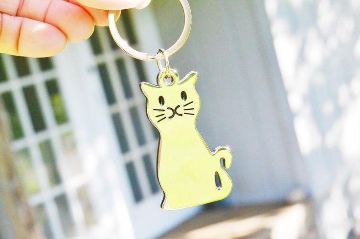 Smiling Cat Key Ring! - PawZaar  - 1