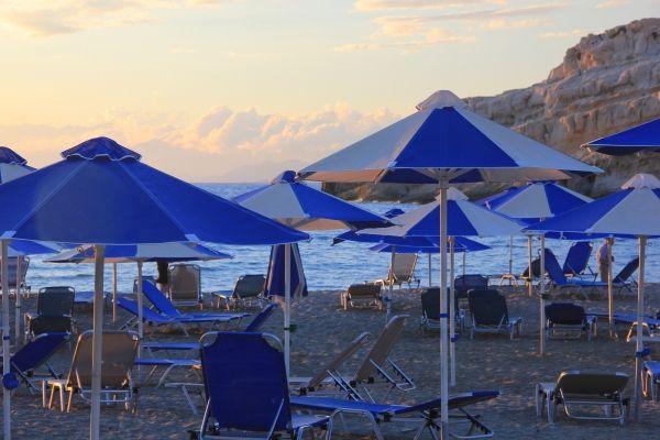 Matala beach in late September