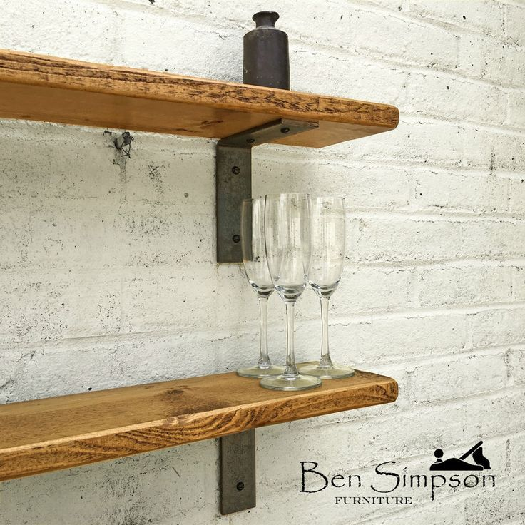 Industrial Thin Shelf, Mantel Raw Steel Shelf Supports, Metal Brackets TMB22 in Home, Furniture & DIY, Furniture, Bookcases, Shelving & Storage | eBay!