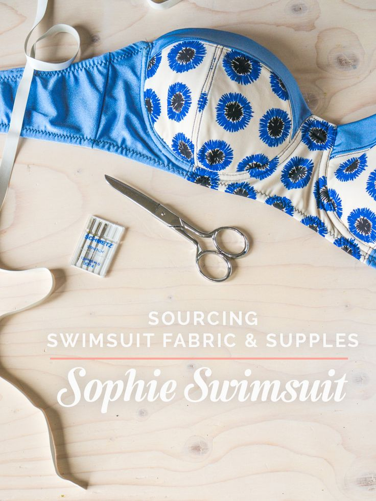 The best online sources for swimsuit fabric and swimwear material, swimsuit elastic and all the bra-making supplies you need to make an underwired swimsuit.