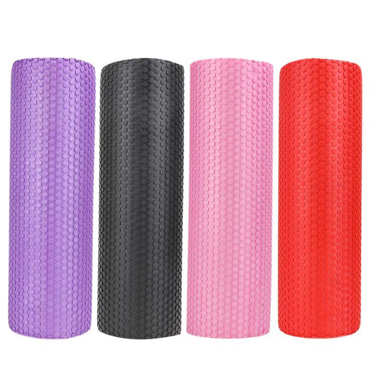 45 cm * 15 cm yoga fitness ausrüstung eva schaumstoffrolle blöcke pilates fitness gym übungen physio massage roller yoga block