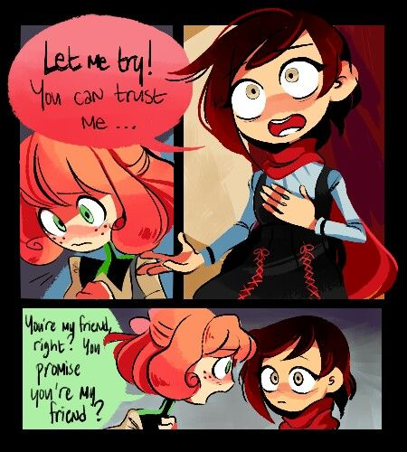 """Let me try! You can trust me...."" Ruby and Penny. RWBY Season 2"