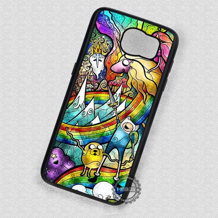 Adventure Time Stained Glass - Samsung Galaxy S7 S6 S5 Note 7 Cases & Covers