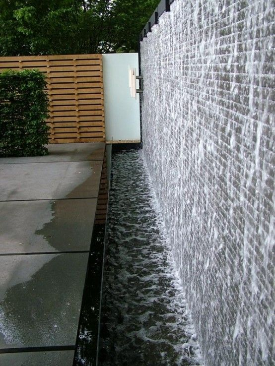 Waterfall Design Ideas loving this modern waterfall design 38 Amazing Outdoor Water Walls For Your Backyard Digsdigs Wall Waterfallwaterfall Designoutdoor