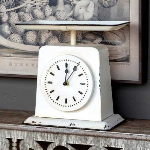 Old Fashioned Homemaker Scale Clock #clock #scale
