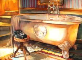 Alice Art Gallery - Jonel Scholtz - SA Artist - Interior oil - HEY JUDE